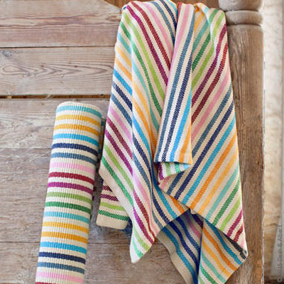 The rug company striped woven throw