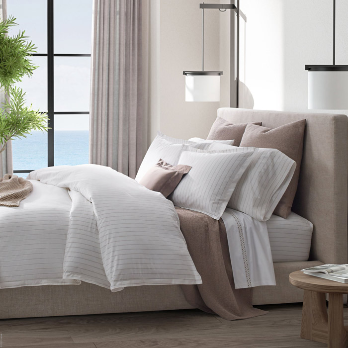 Amalfi Percale Bed Linens
