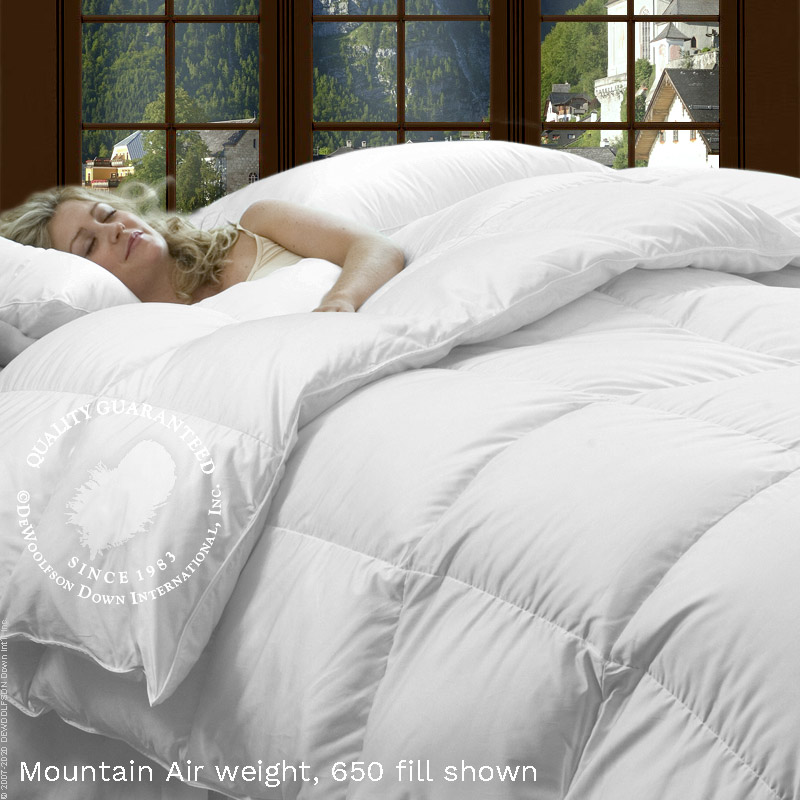 Austrian Cambric White Goose Down Comforter