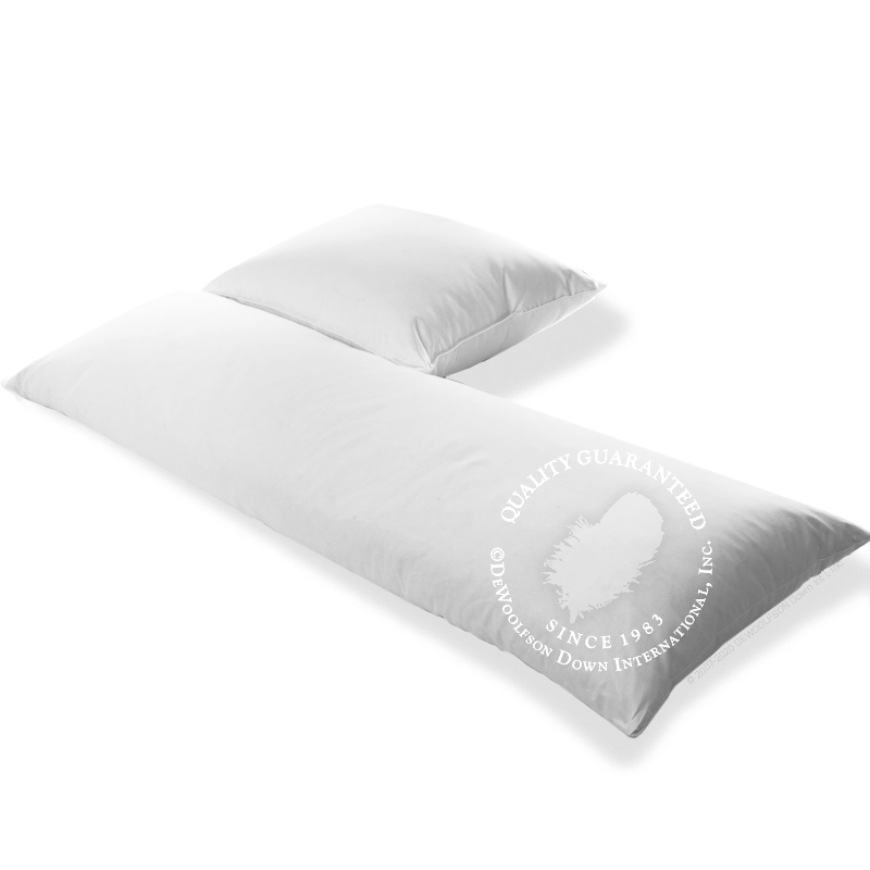 White Goose Down Body Pillows