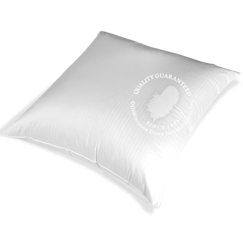 European Square White Goose Down Pillows