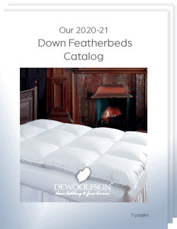 Our 2020-21 Down Featherbed Catalog